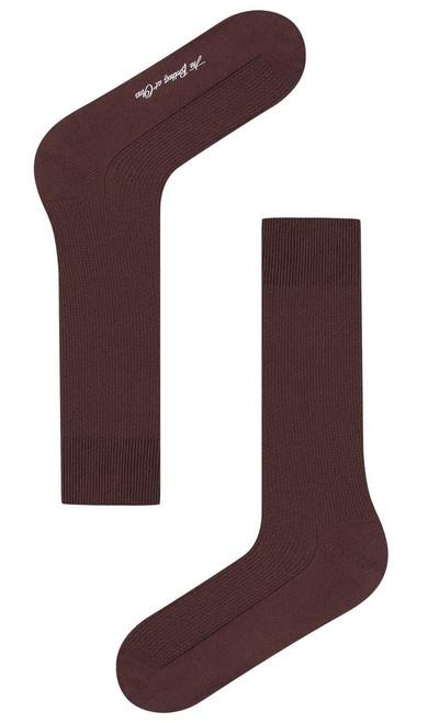 OTAA - Dark Coffee Brown Textured Socks
