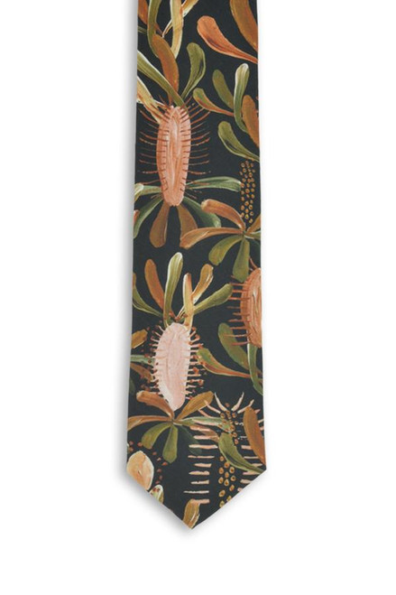 PEGGY AND FINN - COTTON TIE - Grass Tree Black