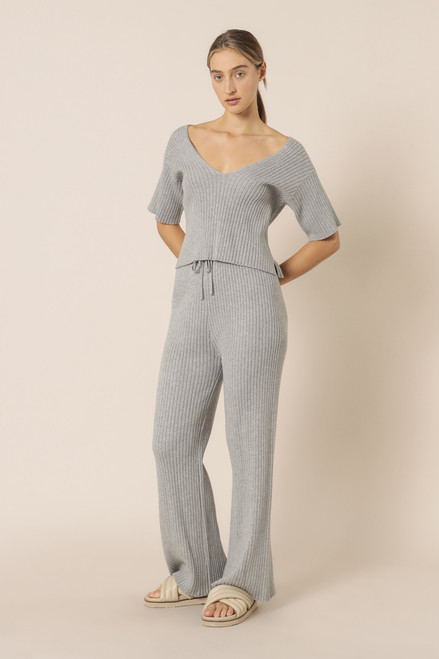 NUDE LUCY - Celia Knit Pants in Grey Marle