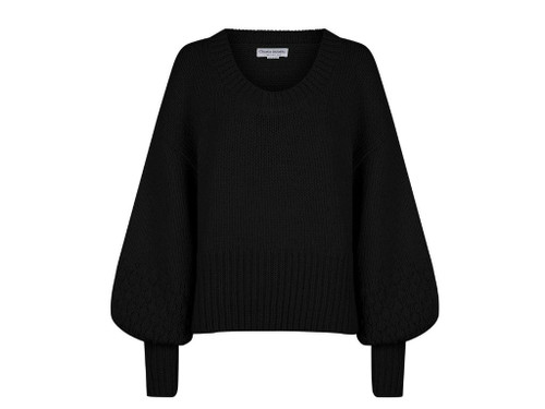 CHARLIE HOLIDAY - Faun Knit Sweater in Black