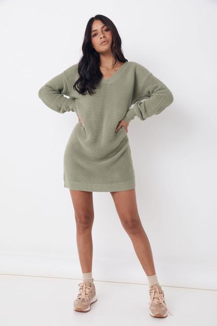 SAINT HELENA - Jeda Knitted Dress - Sage