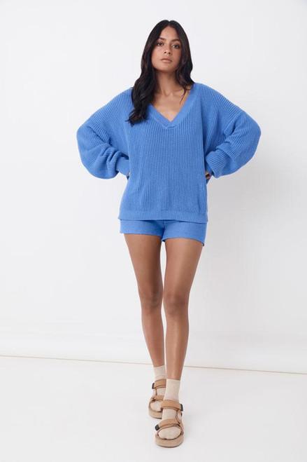 SAINT HELENA - Jeda Knitted Jumper -Paradise Blue
