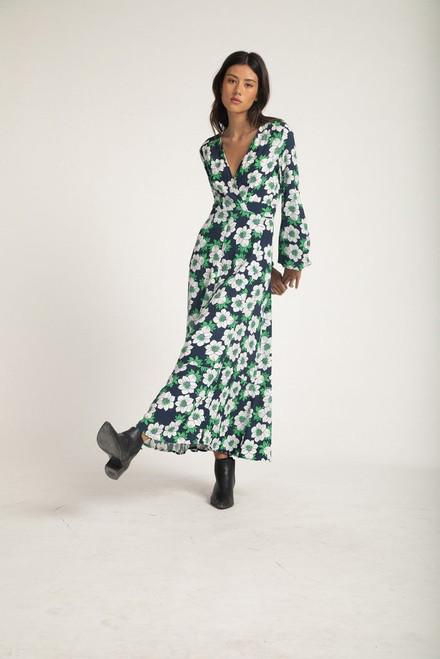 ROLLAS -Lily Datura Wrap Dress - Navy
