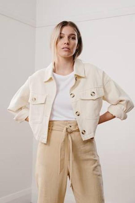 LITTLE LIES - Fall Cotton Jacket - Cream