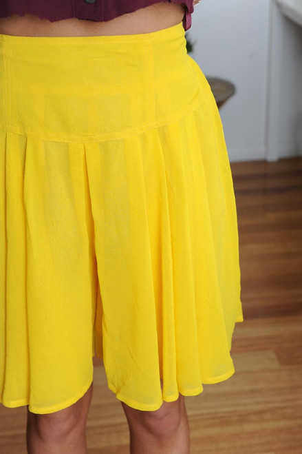 Vintage Yellow Pleat Culottes