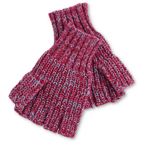 KIP & CO - Very Berry Speckled Rib Knitted Fingerless Mittens