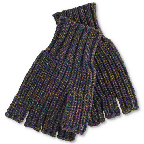 KIP & CO - Military Speckled Rib Knitted Fingerless Mittens