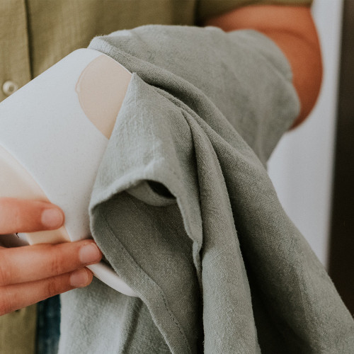ANNABEL TRENDS - Stonewash Tea Towel - Sage