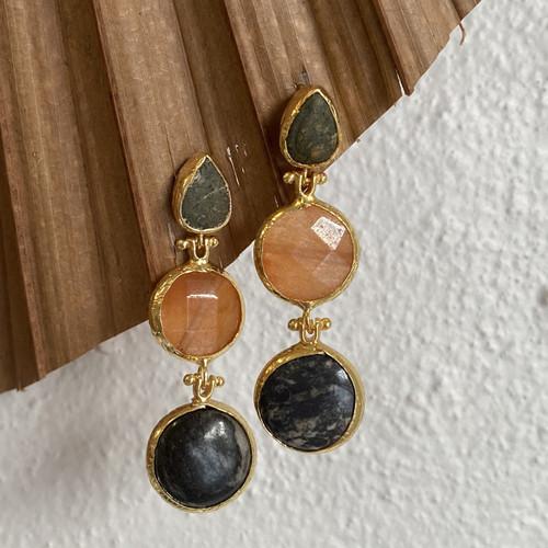 INARTISAN - Ares Triple Drop Earrings