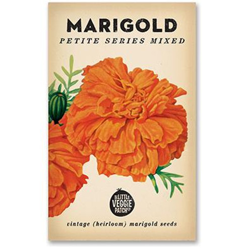 LITTLE VEGGIE PATCH CO. - MARIGOLD 'PETITE SERIES MIXED' HEIRLOOM SEEDS