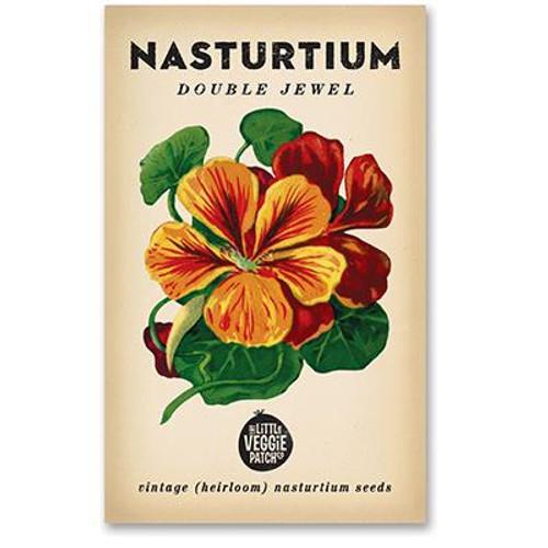 LITTLE VEGGIE PATCH CO. - NASTURTIUM 'DOUBLE JEWEL' HEIRLOOM SEEDS