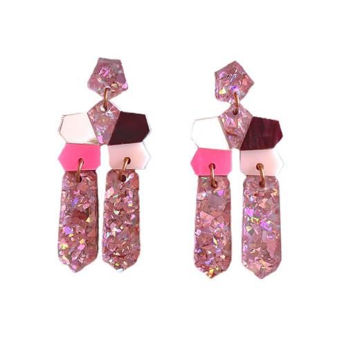 MARTHA JEAN - Mirror Drop Pink