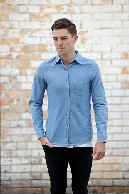 Vintage Denim Shirt - No Brand