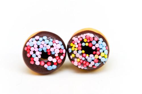 KATE & ROSE - Chocolate Donut Earrings