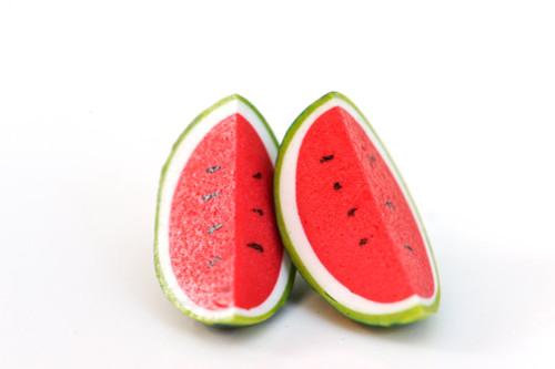 KATE & ROSE - Watermelon Quater Earrings
