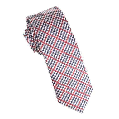OTAA Crimson Gingham Skinny Tie