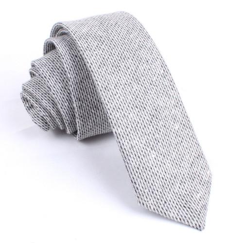 OTAA Grey Tweed Linen Skinny Tie