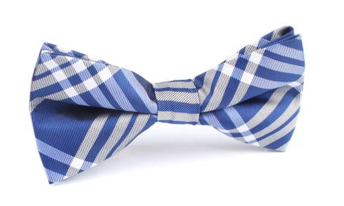 OTAA Pop Blue with White Stripes Bow Tie