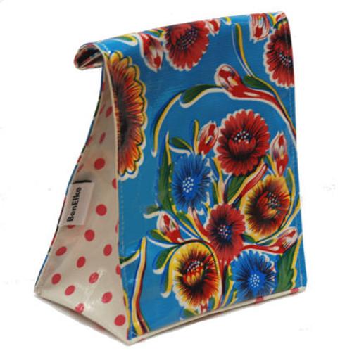 BEN ELKE - Blue Sweet Flower Lunch Bag