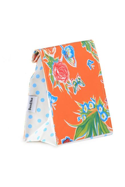 BEN ELKE - Orange Butterfly Lunch Bag