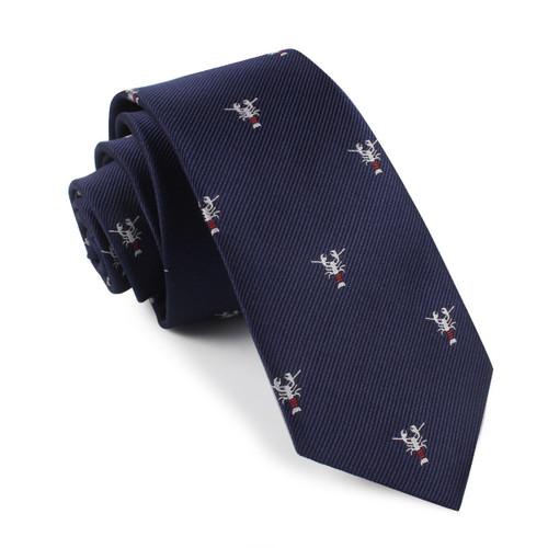 OTAA Navy Blue Lobster Skinny Tie