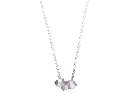 SHABANA JACOBSON - Geometric Necklace Matte Silver