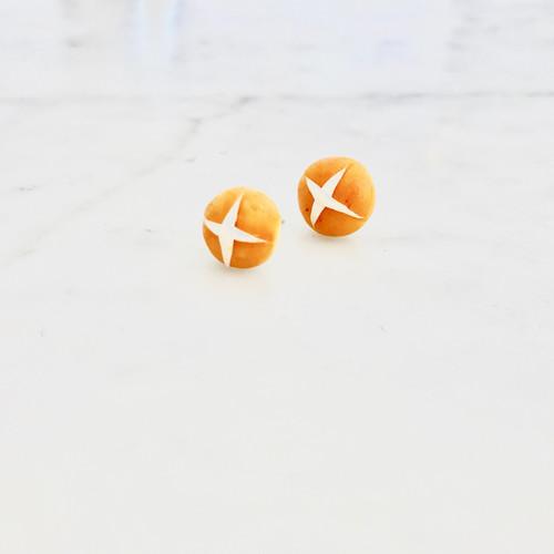 Kate and Rose Hot Cross Bun Earrings