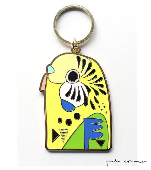 Budgerigar Key Ring