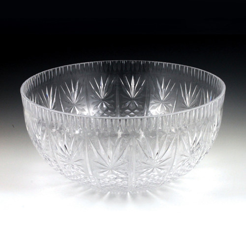 12 qt. Crystal Cut Punch Bowl (3 Piece)