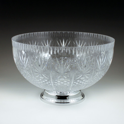 12 qt. Crystal Cut Punch Bowl with Pedestal (3 Piece)
