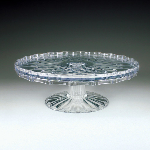 "10"" Crystal Cut Tiered Cake Plate (4 Pieces)"