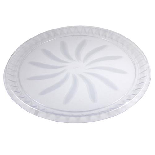 """18"""" Swirl Tray, Clear"""