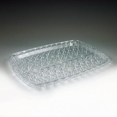 Crystal Cut Rectangular Tray (12 per case)