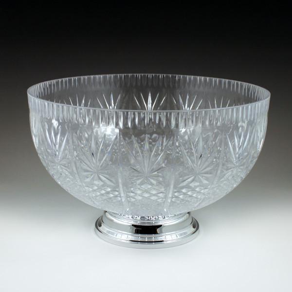 12 qt. Crystal Cut Punch Bowl with Pedestal (3 Piece)