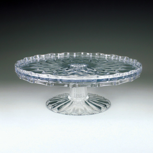 """10"""" Crystal Cut Tiered Cake Plate (4 Pieces)"""