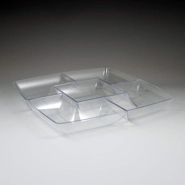 """12"""" Square Chip & Dip Tray (12 Pieces)"""