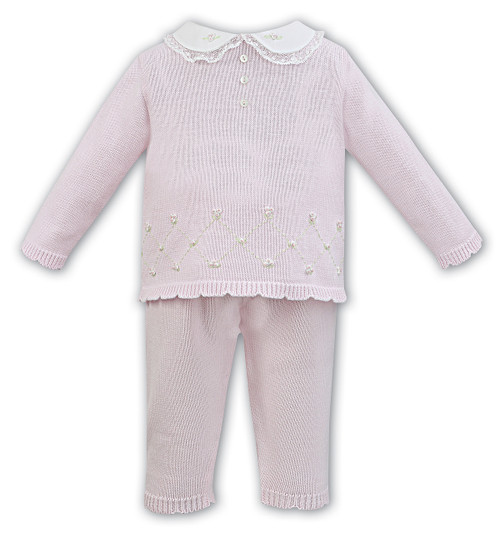 bd0448373b9a Pink/Ivory Rose Bud Knit. £39.00. sarah louise shorty pink and white