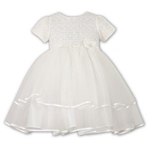 46c1830e8298 sarah louise ballerina style ceremonial dress with short sleeves in ivory