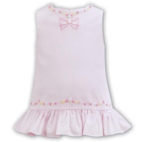 0e088b8ac6ed sarah louise rose bud pink drop waist smocked dress lightweight