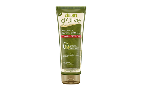 D'OLIVE COLOR PROTECTION SHAMPOO (PARABEN, SILICONE, PEG, SLES FREE) Made from Mediterranean Olive Oil and Pearl Protein, our shampoo and conditioner protects your hair color up to 4 weeks while reducing the corrosive effects of dye. You too will feel the long lasting color effect of our shampoo on your hair.