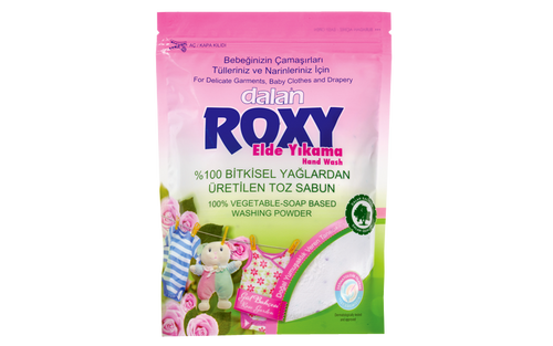 Roxy Matic naturally and gently cleans delicate garments, baby clothes and drapery, without damaging the fine surface of fabrics due to its special 100% vegetable-soap based formula. Combining fresh spring flower fragrance with 100% natural, extra-softening granules, Roxy Matrix permeates your clothes with a natural softness and leaves your clothes smelling beautiful for long time.