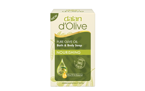 Dalan d'Olive Olive Oil Massage & Cellulite Soap helps to reduce cellulite and rejuvenate your skin with its olive seed, juniper berry oil, thyme, grape seed and wheat germ oil complex content. It is easy to use during shower/bath thanks to special designed ergonomic structure of the soap.
