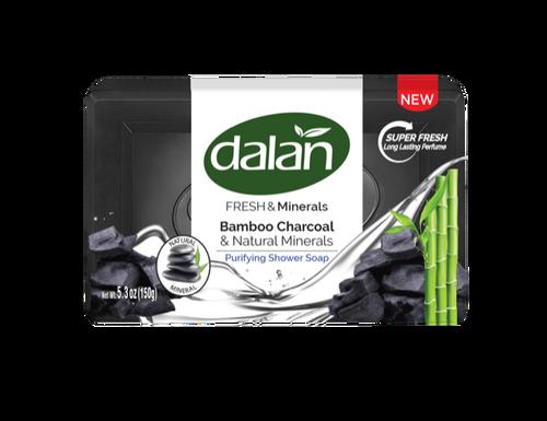 Dalan Fresh & Minerals Shower Soap, Bamboo Charcoal & Natural Minerals 150g