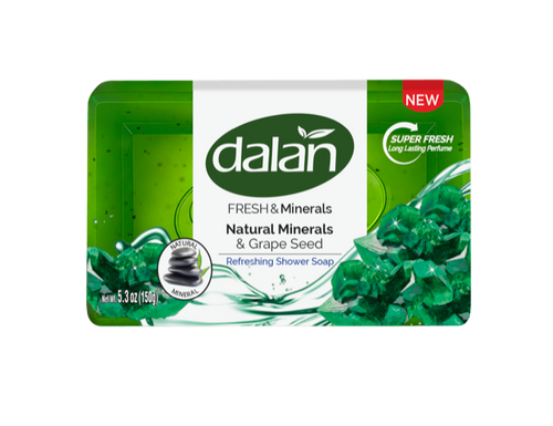 Dalan Fresh & Minerals Shower Soap, Natural Minerals & Grape Seed 150g
