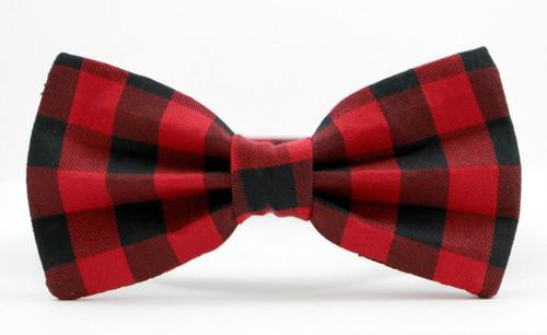 5df8505f8ac9 ... Tie & Collar Set; The Lumberjack Red & Black Buffalo Plaid Bow ...