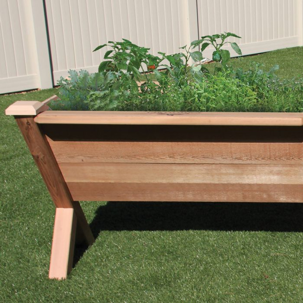 "-TEMPORARILY OUT OF STOCK- Modular Rustic Garden Wedge 36x48x32 - 18""D  Extension Kit"