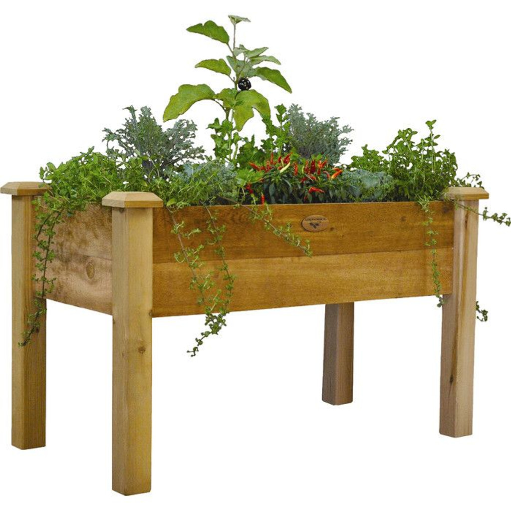 "Rustic Elevated Garden Bed 24x48x32 - 9""D"