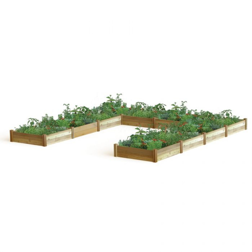 """-TEMPORARILY OUT OF STOCK- """"U"""" Shaped Harvester Raised Garden Bed 189x189x13"""