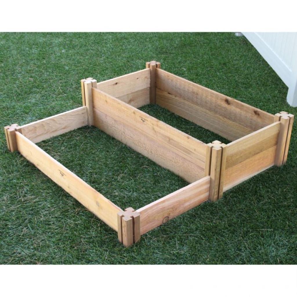 Multi-Level Rustic Raised Garden Bed 36x36x13