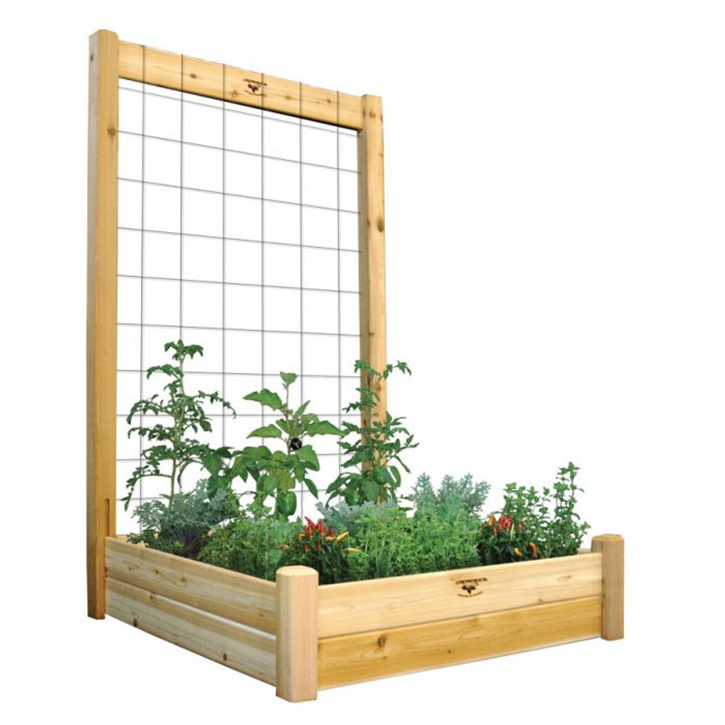 "Raised Garden Bed with Trellis Kit  48x48x80 - 10""D"